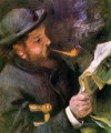 Claude Monet Reading A Newspaper master Pierre Auguste Renoir