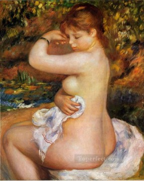 Pierre Auguste Renoir Painting - after the bath Pierre Auguste Renoir