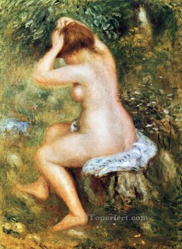 baigneuse se coiffant Pierre Auguste Renoir Oil Paintings