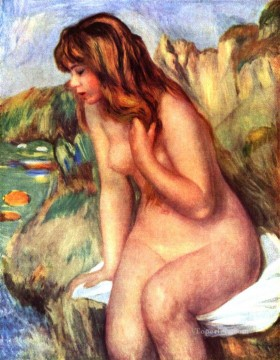 bather on a rock Pierre Auguste Renoir Oil Paintings