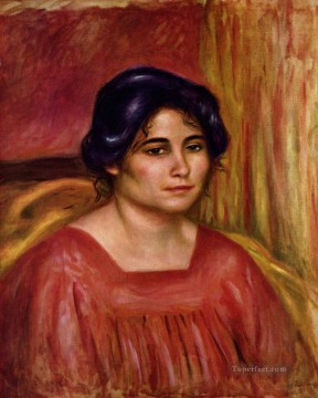 gabrielle in a red blouse Pierre Auguste Renoir Oil Paintings