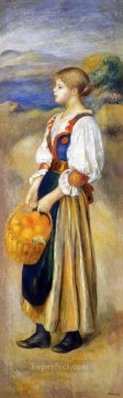 girl with a basket of oranges Pierre Auguste Renoir Oil Paintings