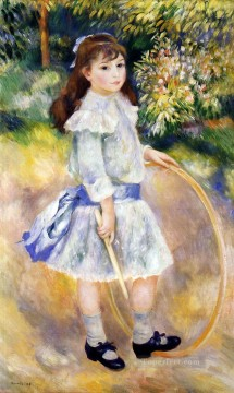 girl with a hoop Pierre Auguste Renoir Oil Paintings