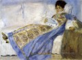 madame monet lying on sofa Pierre Auguste Renoir