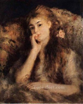 portrait of a girl Pierre Auguste Renoir Oil Paintings