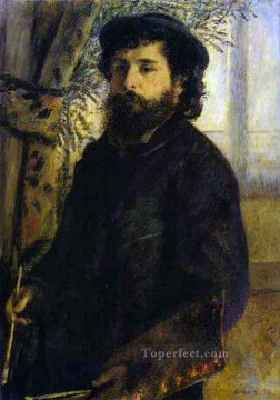 portrait of claude monet Pierre Auguste Renoir Oil Paintings