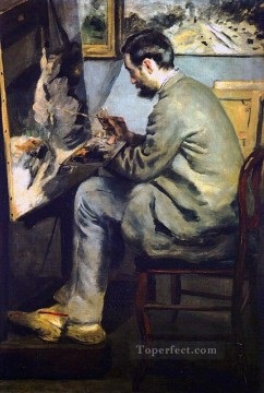 portrait of jean frederic bazille Pierre Auguste Renoir Oil Paintings