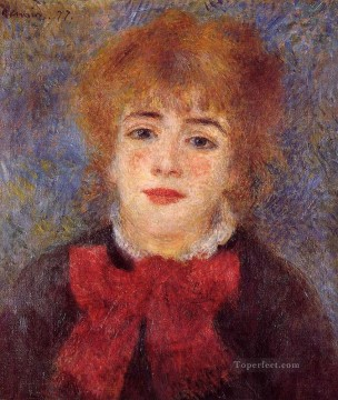 jeanne Art - portrait of jeanne samary Pierre Auguste Renoir