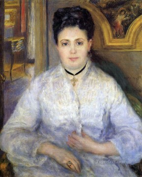portrait of madame chocquet Pierre Auguste Renoir Oil Paintings