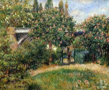 Pierre Auguste Renoir Painting - railway bridge at chatou Pierre Auguste Renoir