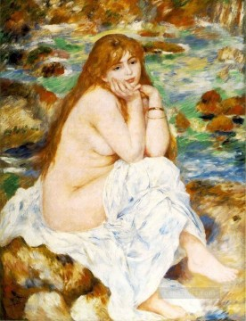 seated bather Pierre Auguste Renoir Oil Paintings