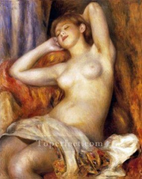 sleep Painting - sleeping bather Pierre Auguste Renoir