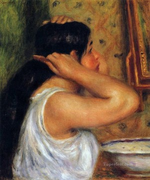 woman combing her hair Pierre Auguste Renoir Oil Paintings