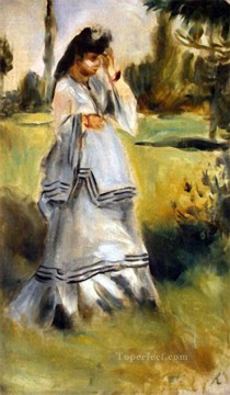 renoir Art - woman in a park Pierre Auguste Renoir