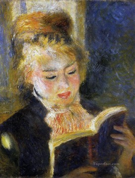 woman reading Pierre Auguste Renoir Oil Paintings