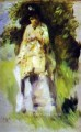woman standing by a tree Pierre Auguste Renoir