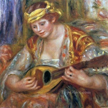 woman with a mandolin Pierre Auguste Renoir Oil Paintings