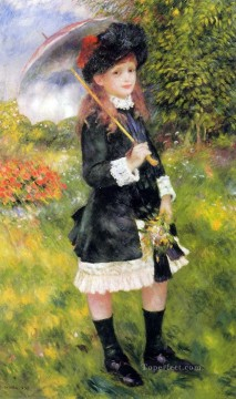 young girl with a parasol Pierre Auguste Renoir Oil Paintings