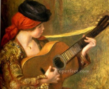 renoir Art - young spanish woman with a guitar Pierre Auguste Renoir