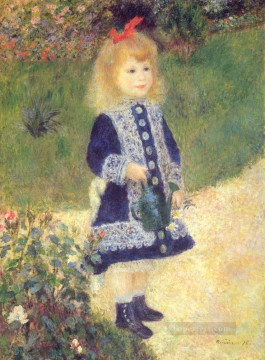A Girl with a Watering Can master Pierre Auguste Renoir Oil Paintings