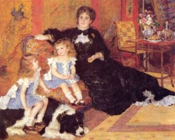 adam Painting - Madame Georges Charpentier and her Children master Pierre Auguste Renoir