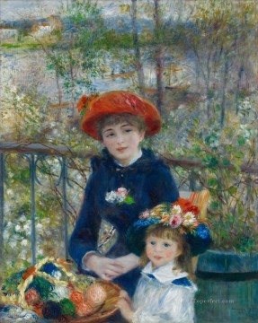 Pierre Auguste Renoir Painting - Two Sisters On the Terrace Renoir