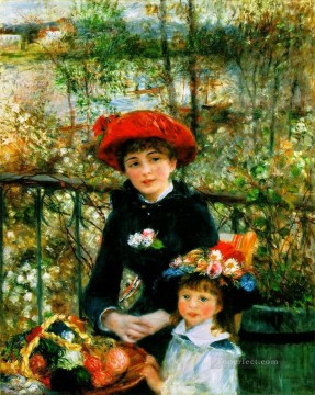 renoir Art - Two Sisters On the Terrace master Pierre Auguste Renoir