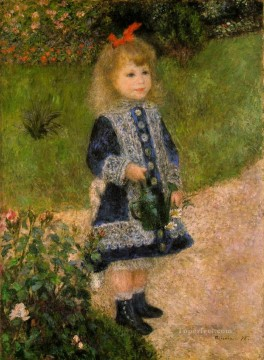 a girl with a watering can Pierre Auguste Renoir Oil Paintings