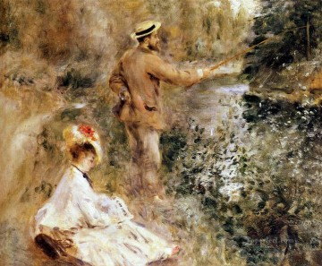 Pierre Auguste Renoir Painting - fisherman on riverbank Pierre Auguste Renoir
