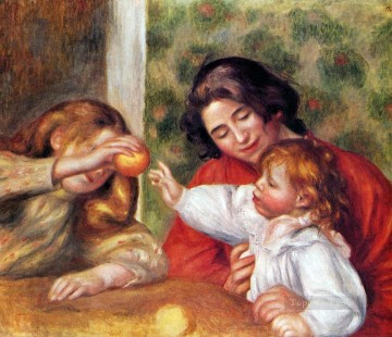 Pierre Auguste Renoir Painting - gabrielle with jean and little Pierre Auguste Renoir