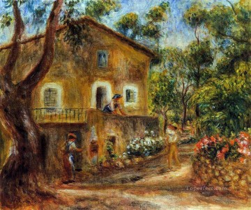 Pierre Auguste Renoir Painting - house in collett at cagnes Pierre Auguste Renoir