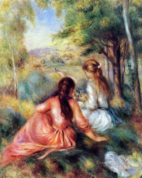 in the meadow Pierre Auguste Renoir Oil Paintings