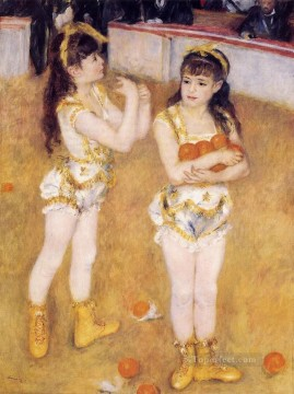 Pierre Auguste Renoir Painting - jugglers at the cirque fernando Pierre Auguste Renoir