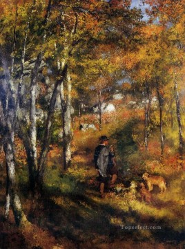 jules le couer in fontainebleau forest Pierre Auguste Renoir Oil Paintings