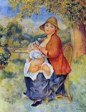 Pierre Auguste Renoir Painting - mother and child Pierre Auguste Renoir
