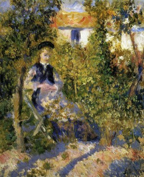 nini in the garden Pierre Auguste Renoir Oil Paintings