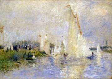Argenteuil Canvas - regatta at argenteuil Pierre Auguste Renoir