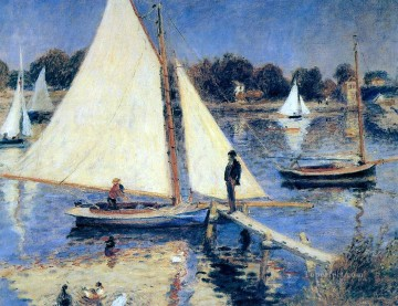 Argenteuil Canvas - sailboats at argenteuil Pierre Auguste Renoir