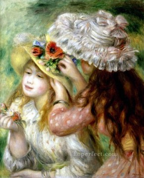 summer hats Pierre Auguste Renoir Oil Paintings