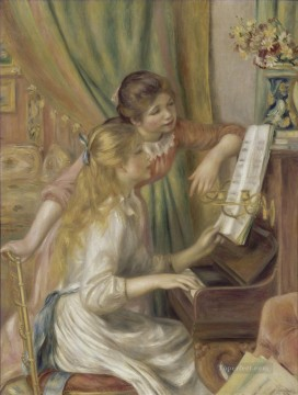 Girls Canvas - two girls at the piano Pierre Auguste Renoir