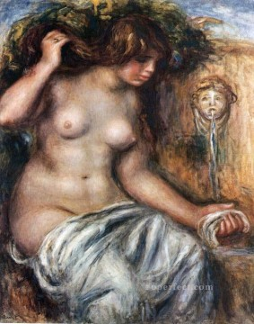 woman at the fountain Pierre Auguste Renoir Oil Paintings