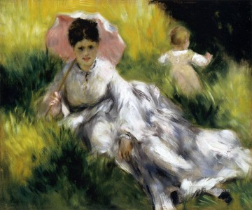 woman with a parasol Pierre Auguste Renoir Oil Paintings