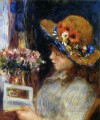 young girl reading Pierre Auguste Renoir