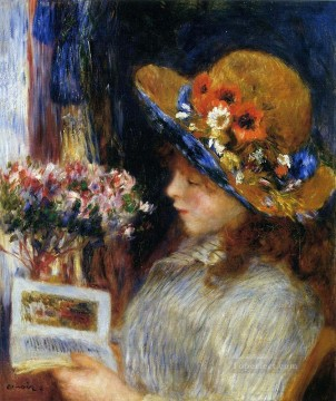young girl reading Pierre Auguste Renoir Oil Paintings