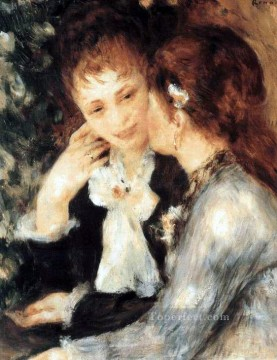 talking Canvas - young women talking Pierre Auguste Renoir