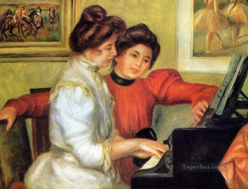 yvonne and christine lerolle playing the piano Pierre Auguste Renoir Oil Paintings