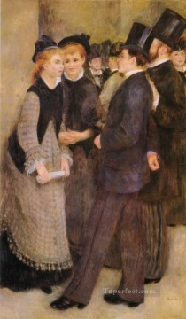 Leaving The Conservatoire master Pierre Auguste Renoir Oil Paintings