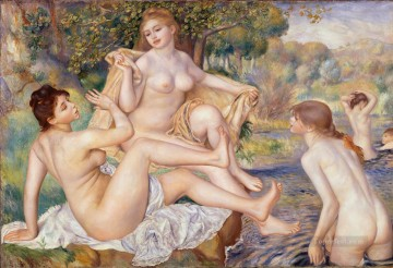 Pierre Auguste Renoir Painting - The Large Bathers Pierre Auguste Renoir