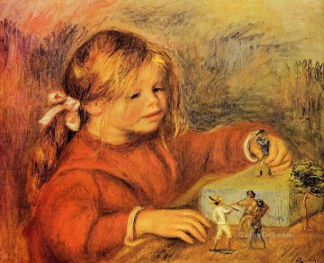 Pierre Auguste Renoir Painting - claude playing Pierre Auguste Renoir