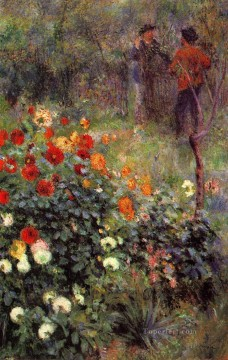 garden in rue cortot montmartre Pierre Auguste Renoir Oil Paintings